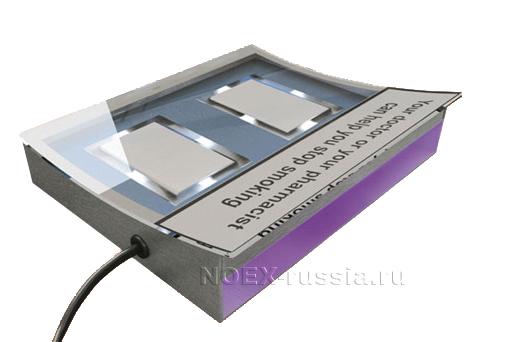 Монетница с системой подсветки и тестером купюр