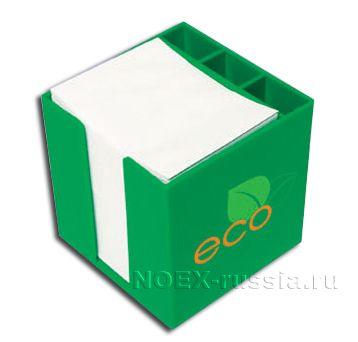 зеленый контейнер для письменных принадлежностей