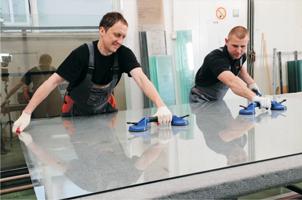услуги по обработке стекла