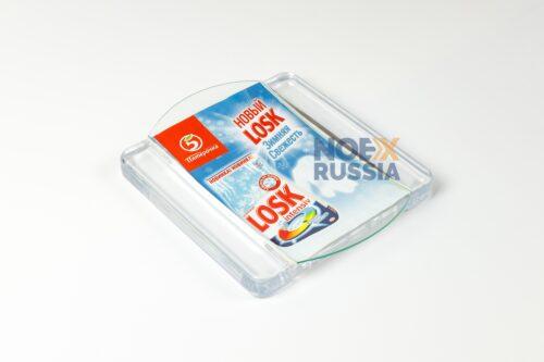 Монетница Square Lux из стекла и пластика