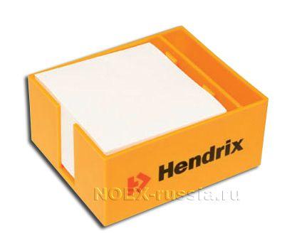 оранжевый ящик для бумаги с логотипом компании