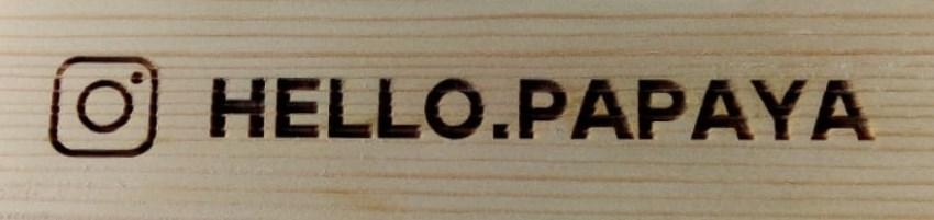 Тейбл тент деревянное основание образец гравировки