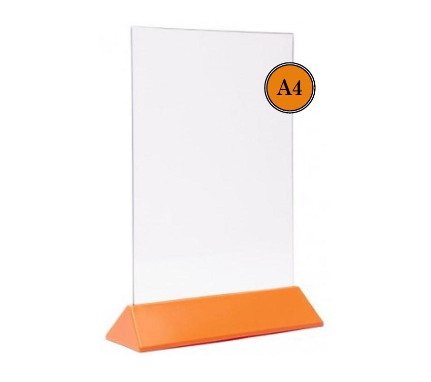 Тейбл Тент А4 оранжевое основание