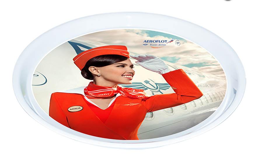 Фото поднос Aeroflot