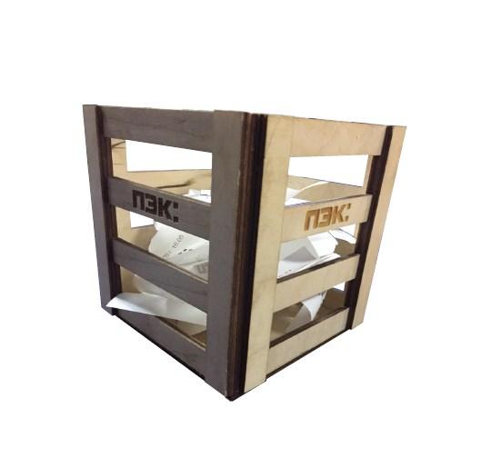 Коробка для чеков деревянная 1