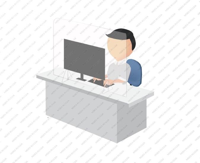 Противовирусный защитный экран для рабочего места