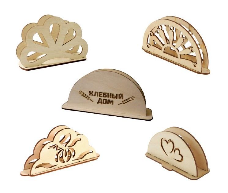 Деревянные салфетки с логотипом