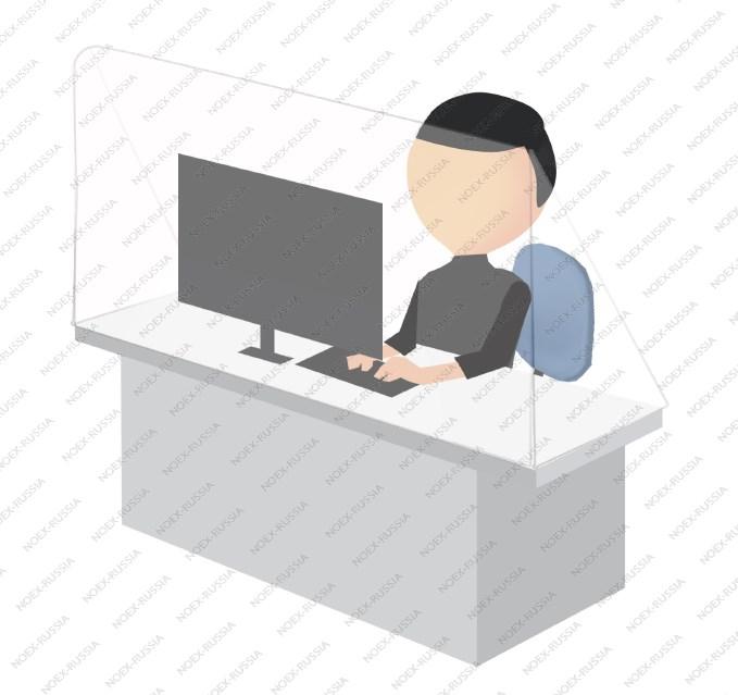 Противовирусный защитный экран для работника в офис