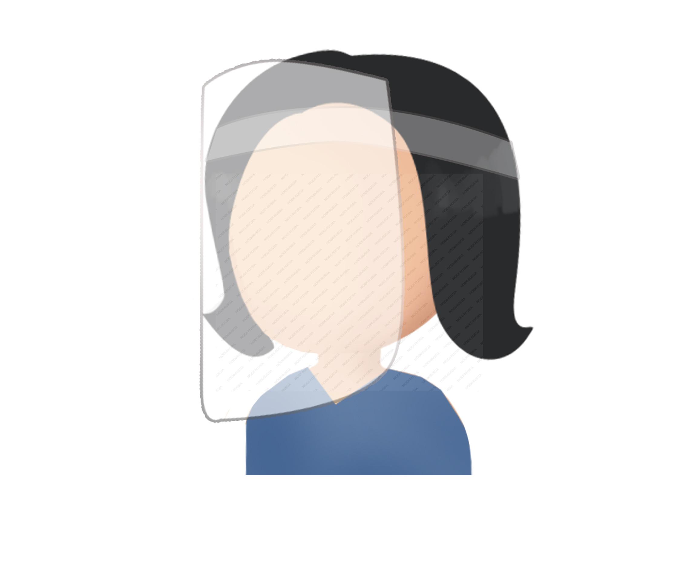Защитный противовирусный экран для лица