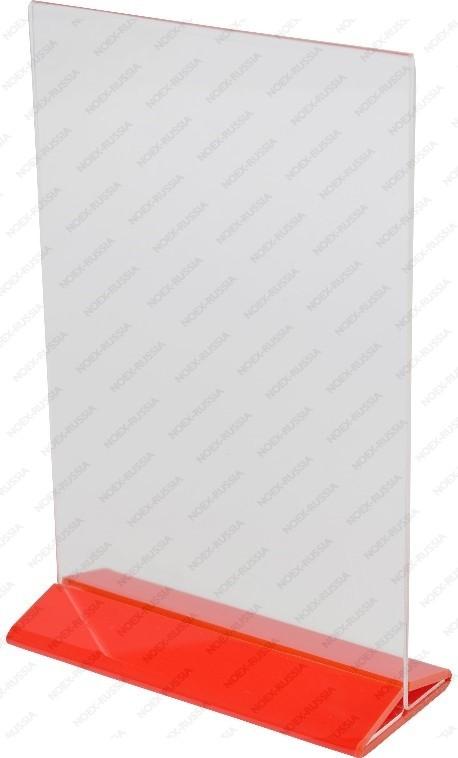 Тейбл тент А4 красный вертикальный
