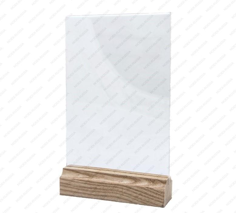 Тейбл тент А4 с деревянным основанием под заказ