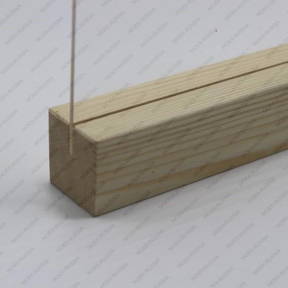 Менюхолдер А4 с деревянным основанием горизонтальный на столе