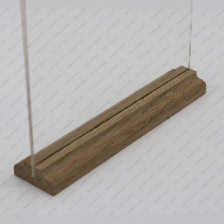 Менюхолдер А4 с деревянным основанием горизонтальный на заказ