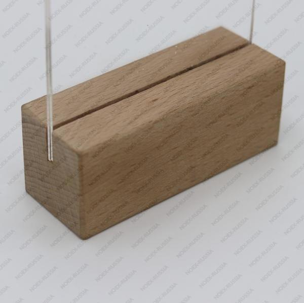 Менюхолдер А4 с деревянным основанием горизонтальный в наличии