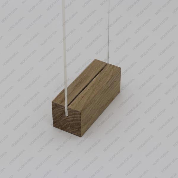 Менюхолдер А5 с деревянным основанием горизонтальный под заказ