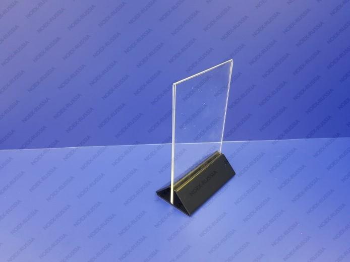 Тейбл тент А5 с цветным основанием горизонтальный из пластика фото 2
