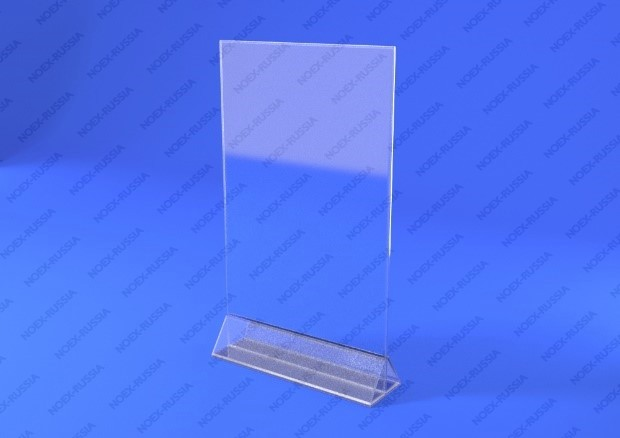 Тейбл тент с пластиковый основанием расположен на столе