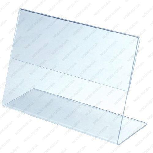 Тейбл тенты и менюхолдеры А4 Г-образные вертикальные из ПЭТ