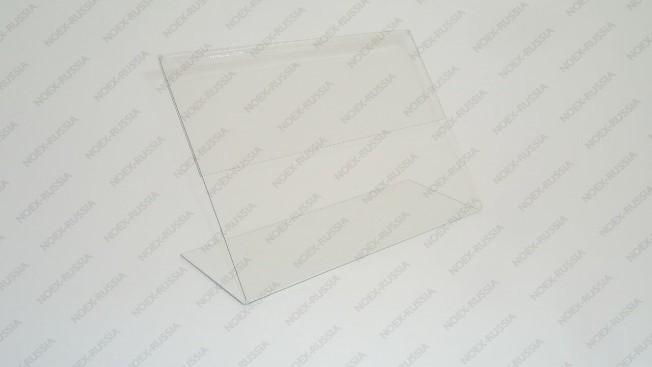 Тейбл тенты и менюхолдеры А4 Г-образные вертикальные из пластика