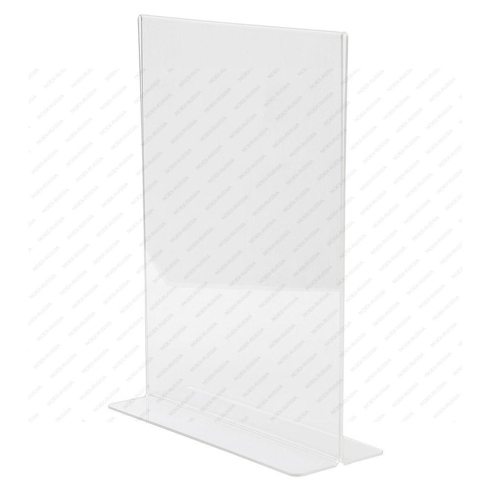 Тейбл тент на белом столе с прозрачной ножкой
