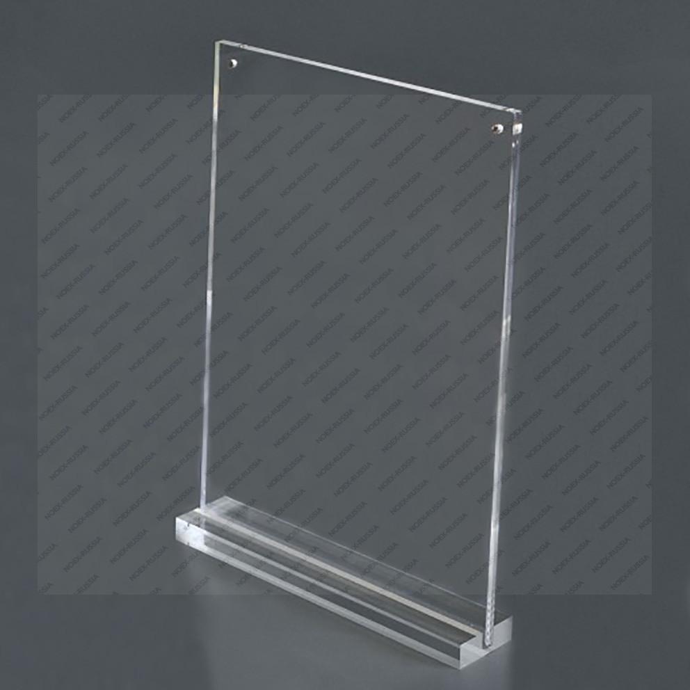 Тейбл тент с прозрачной пластиковой подставкой