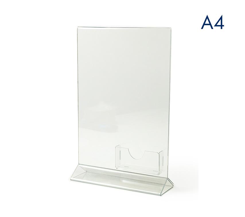 Тейбл тенты и менюхолдеры вертикальные А4 с визитницей