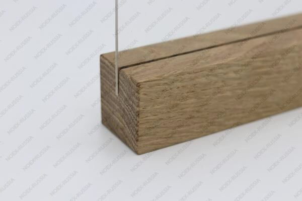 Тейбл тент А6 горизонтальный с деревянным основанием магазин