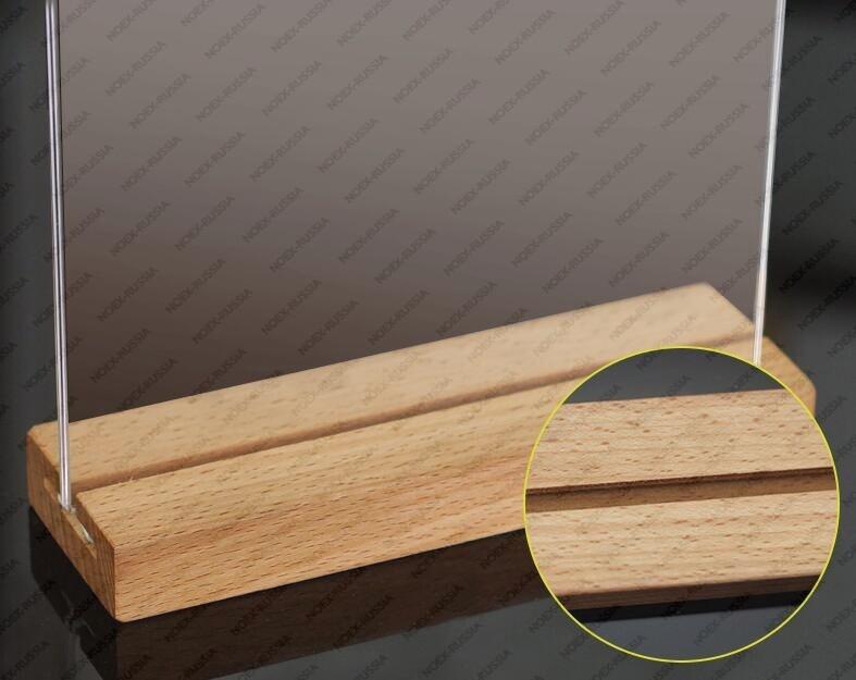 Тейбл тент А6 горизонтальный с деревянным основанием оптом
