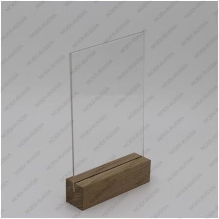 Тейбл тент и менюхолдеры А3 вертикальный с деревянным основанием