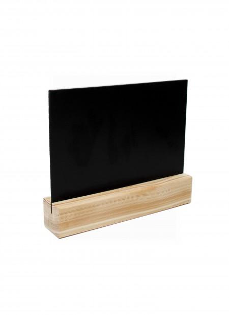 Тейбл тенты и менюхолдеры А4 меловые с деревянным основанием горизонтальные