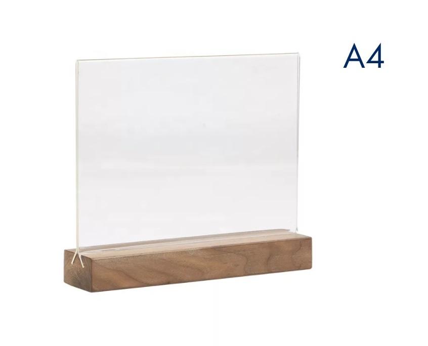менюхолдер на деревянном а4