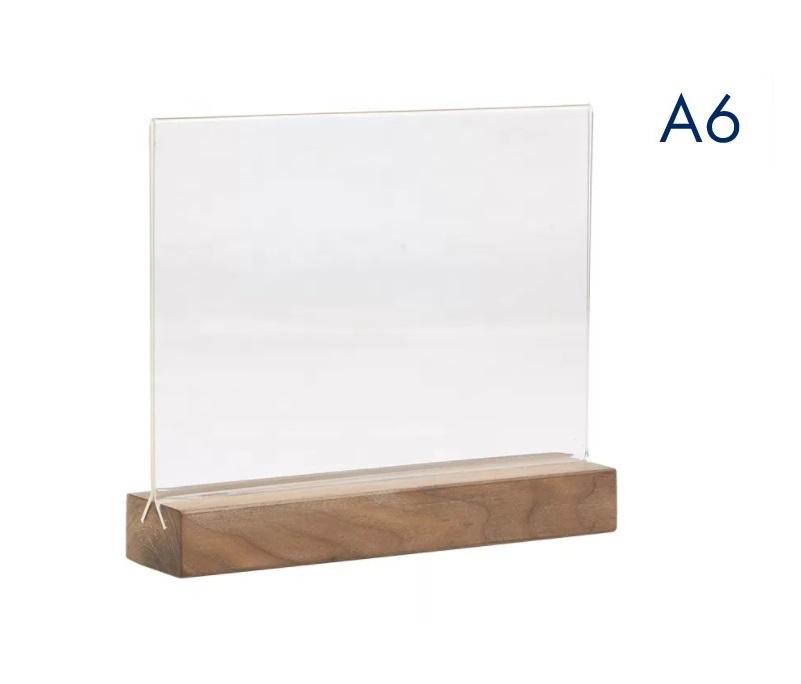 менюхолдер на деревянном а6