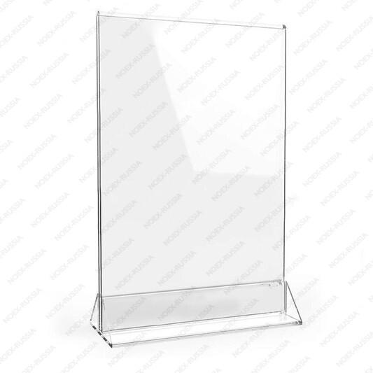 тейбл тент и менюхолдеры А3 вертикальные пластиковые прозрачные оптом