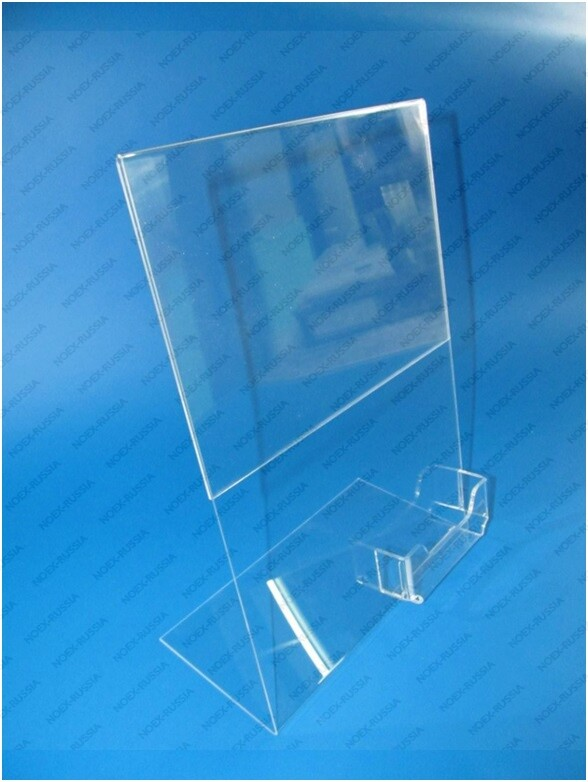 тейбл тент и менюхолдеры А3 вертикальные пластиковые прозрачные