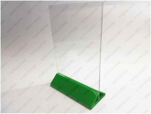 тейбл тент и менюхолдеры А3 вертикальные пластиковые в магазине