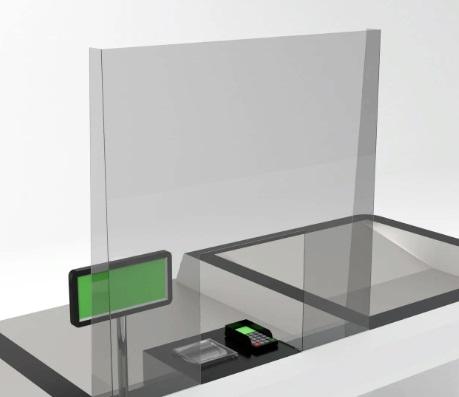 защитные экраны для касс