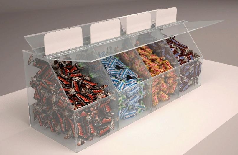 Пластиковые диспенсеры для конфет