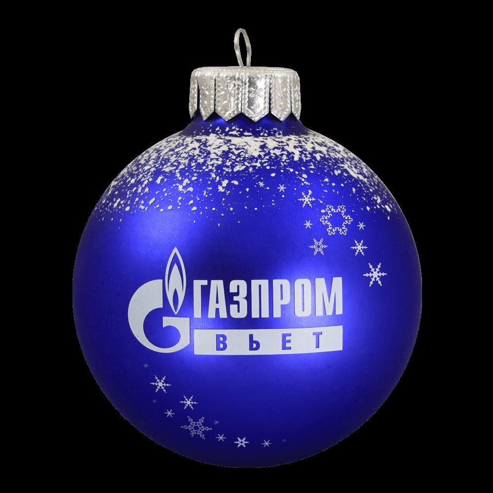 Елочные шары с логотипом компании