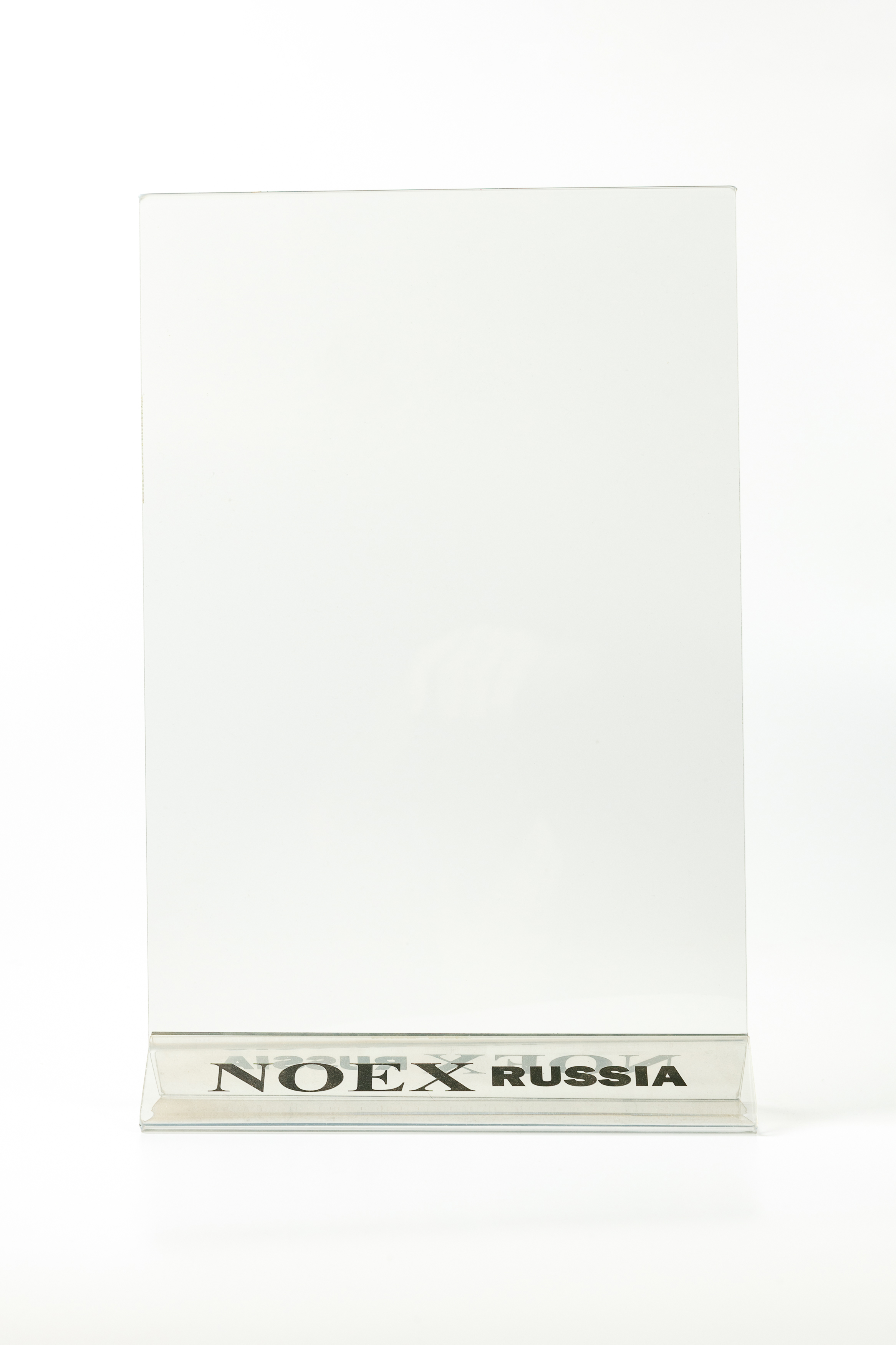 Менюхолдер (тейбл тент) А4 вертикальный с уф-печатью на основании