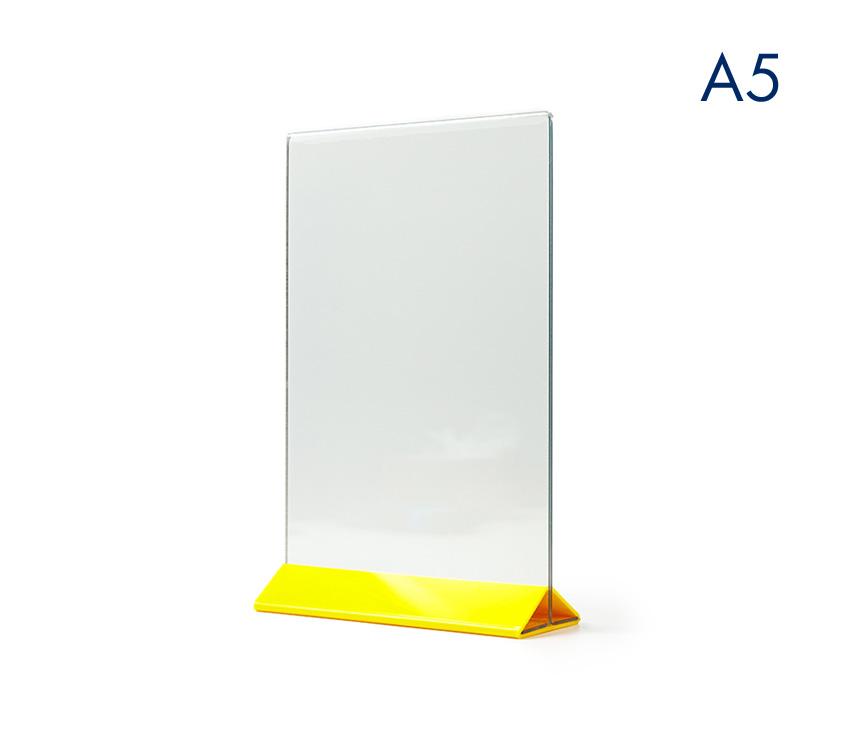 Тейбл тент А5 вертикальный с цветным основанием
