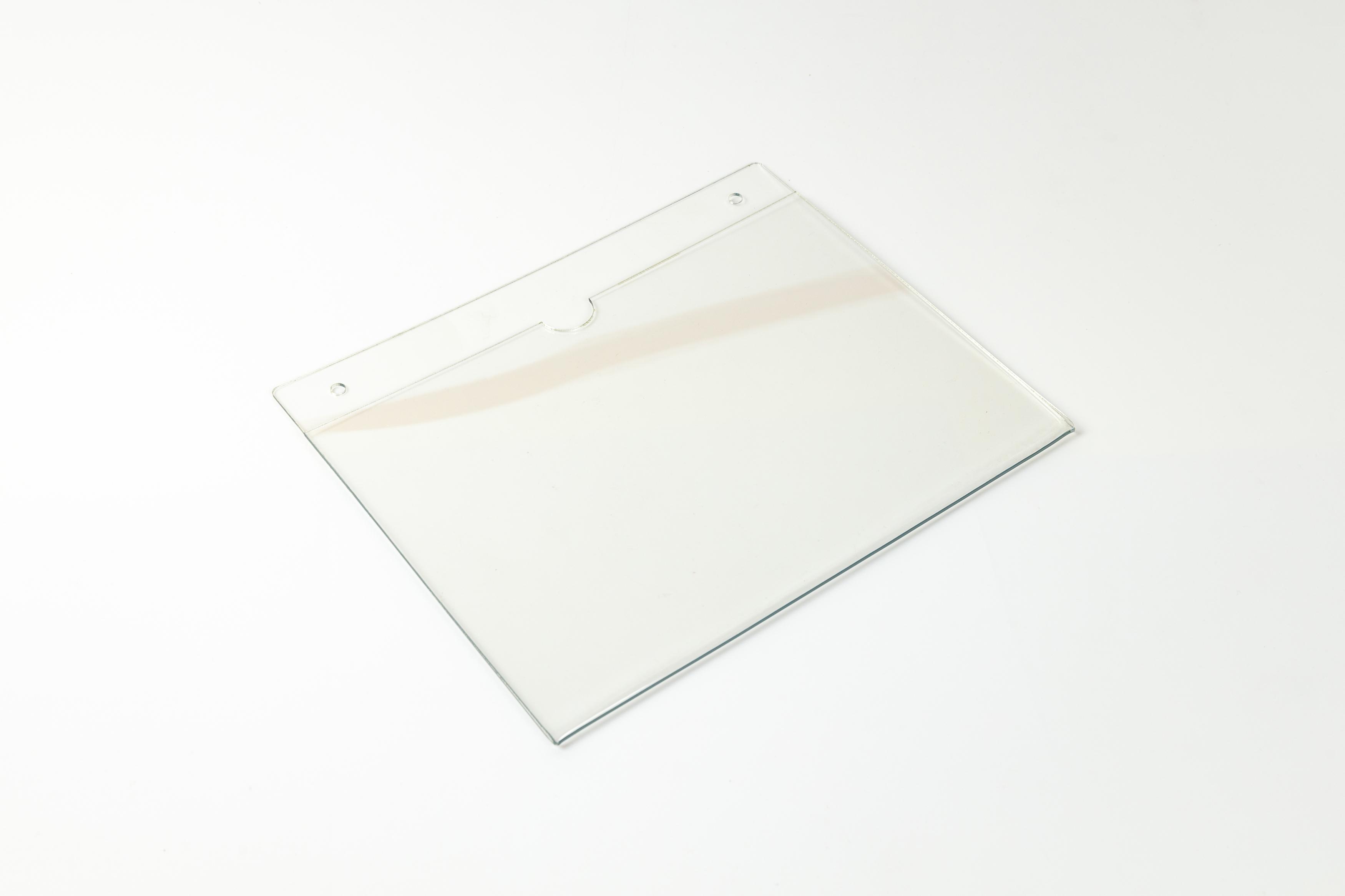 Карман А4 пластиковый настенный горизонтальный