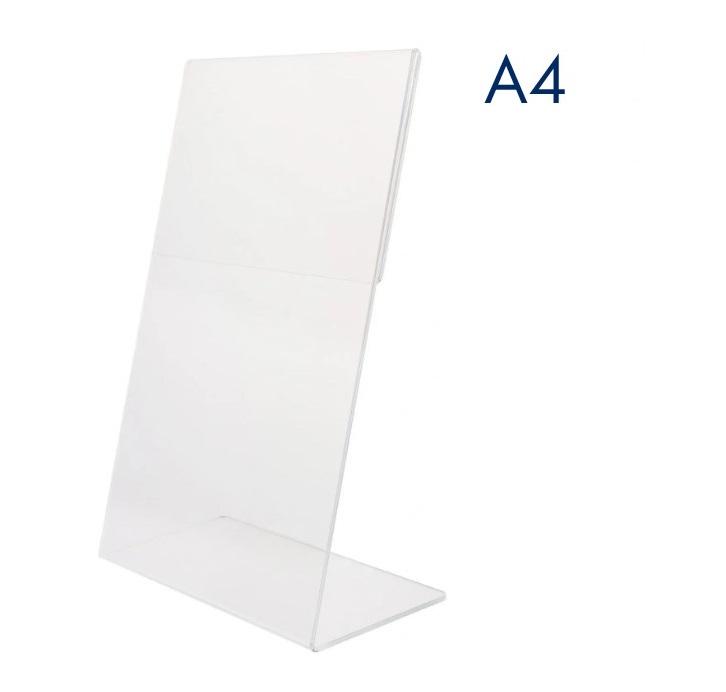 Тейбл тенты и менюхолдеры А4 Г-образные вертикальные