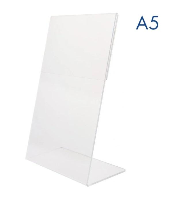 Тейбл тенты и менюхолдеры А5 Г-образные вертикальные