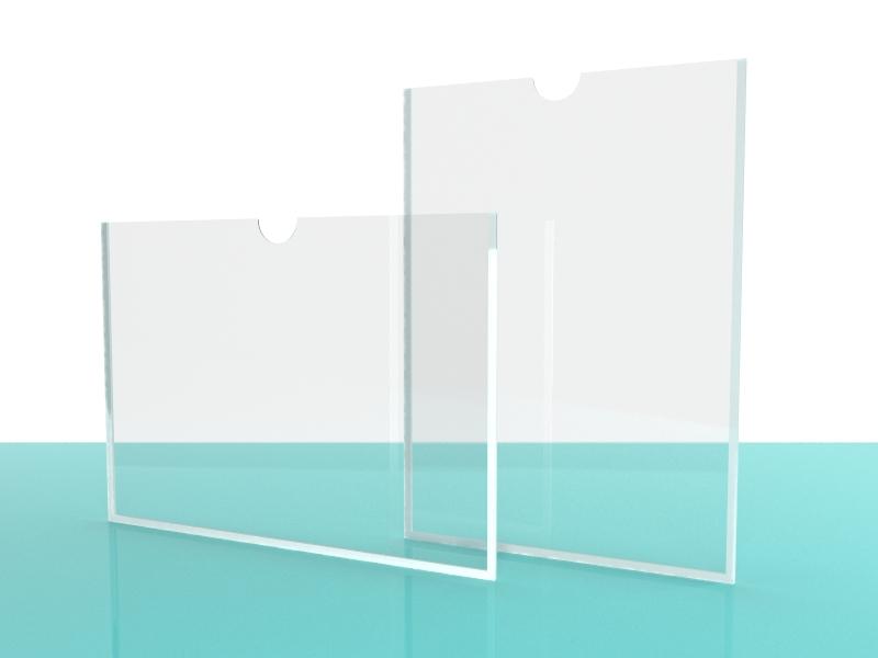 Карман А4 пластиковый настенный вертикальный