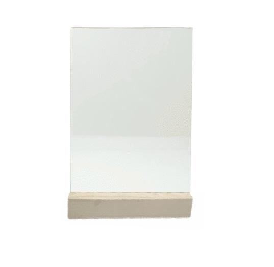 Менюхолдер (тейбл тент) А4 вертикальный с деревянным основанием