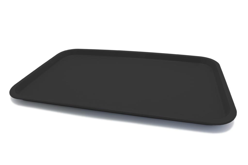 Большой прямоугольный поднос черный