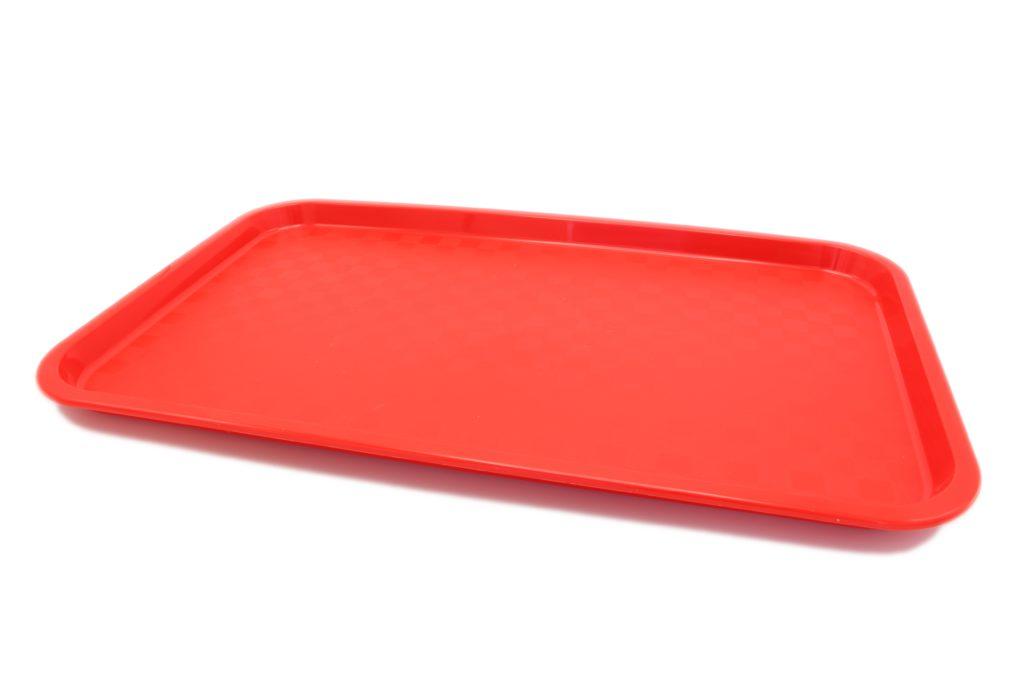 Большой прямоугольный поднос красный