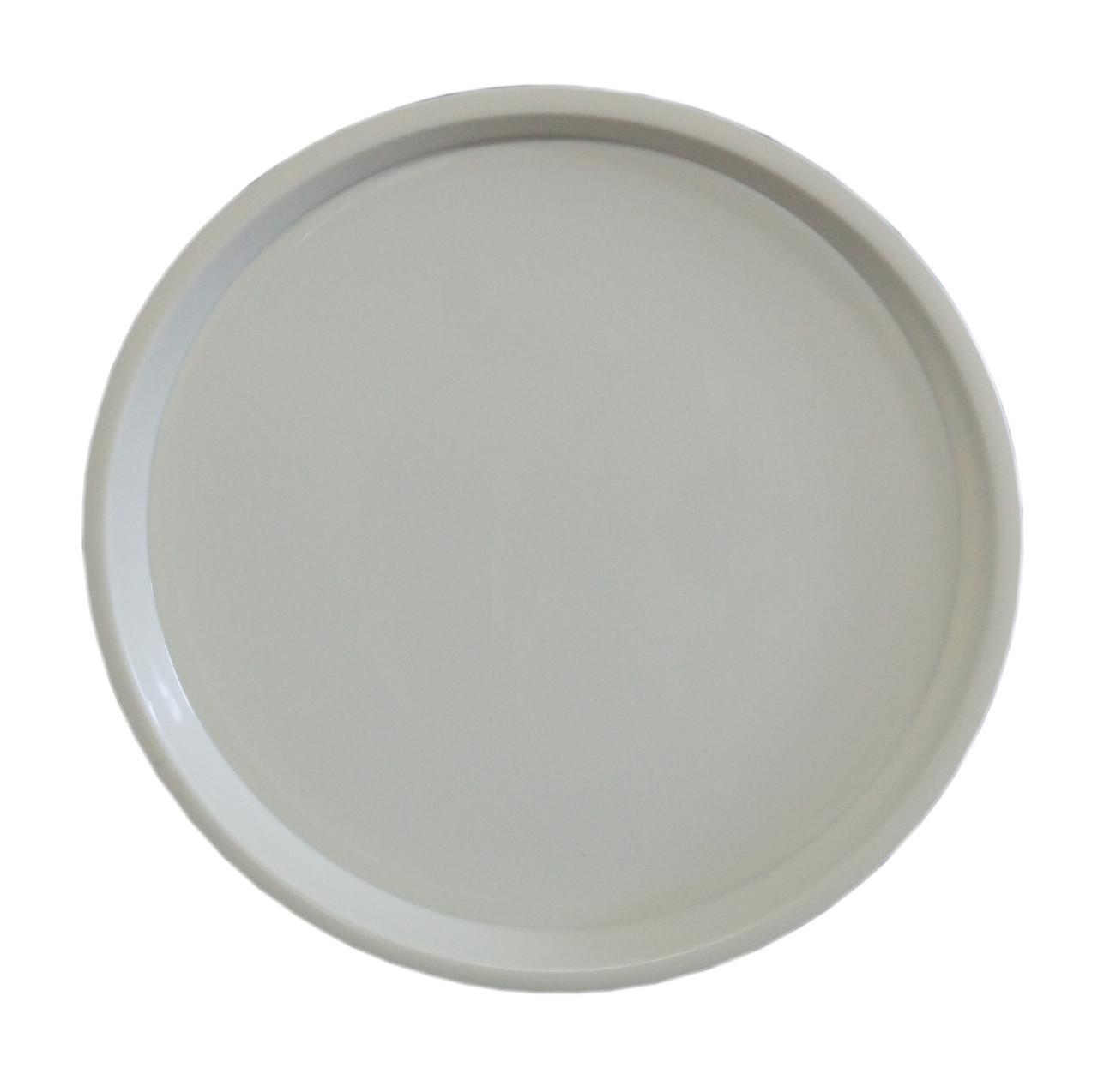 круглый пластиковый поднос серый