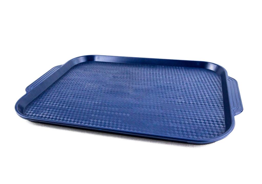 прямоугольный пластиковый поднос синий