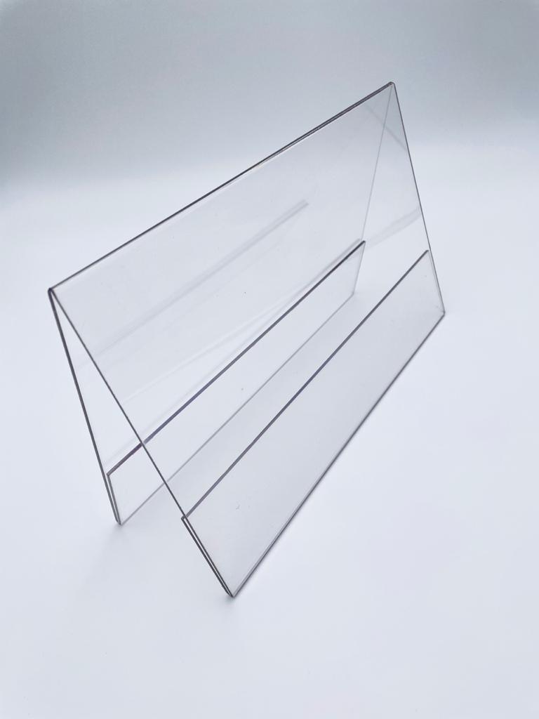 Ценникодержатели горизонтальные двухсторонние пластиковые А4